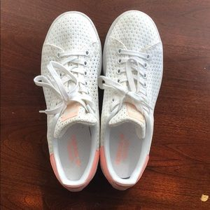 Adidas Stan smith pink and white mesh shoes